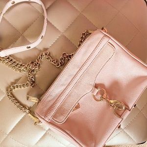 REAL Blush Pink Rebecca Minkoff Mini Crossbody Bag
